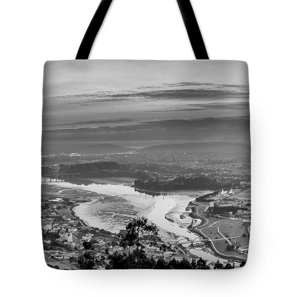 Tote Bag featuring the photograph Ferrol's Ria Panorama From Mount Ancos Galicia Spain by Pablo Avanzini