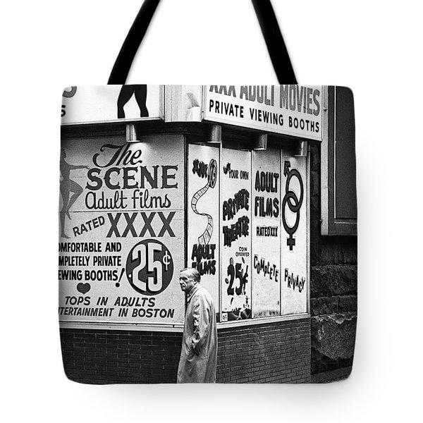 Film Homage Hard Core 1979 Porn Theater The Combat Zone Boston Massachusetts 1977 Tote Bag