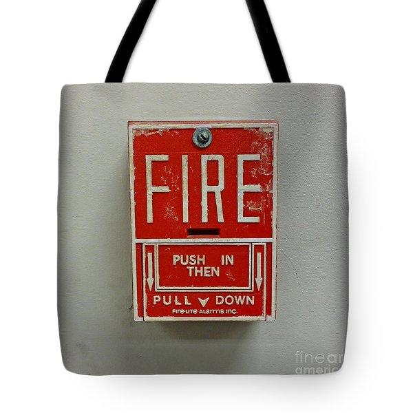 Pull Station Tote Bags Fine Art America