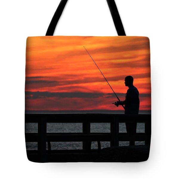 Fishing Pier Mount Sinai New York  Tote Bag