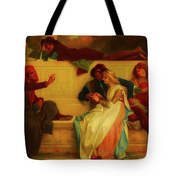 Tote Bag featuring the painting Florentine Poet by Alexandre Cabanel