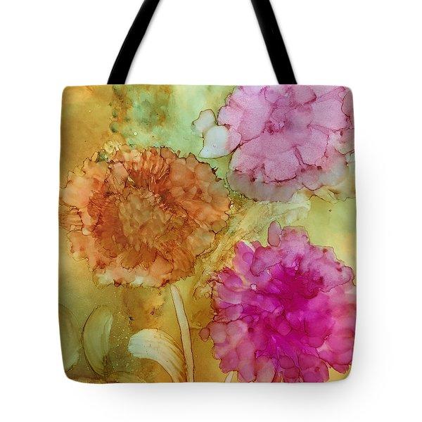 3 Flowers Tote Bag