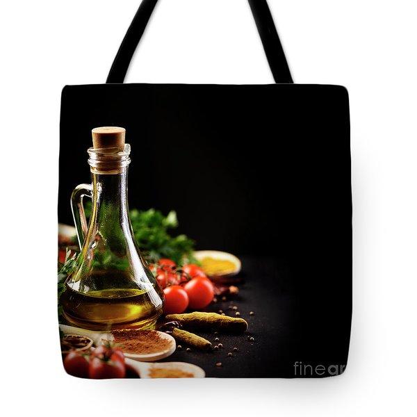 Food Ingredients Tote Bag