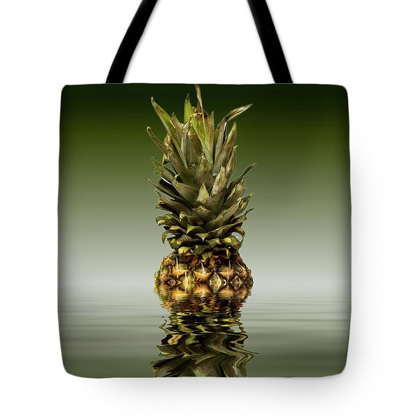 Tote Bag featuring the photograph Fresh Ripe Pineapple Fruits by David French