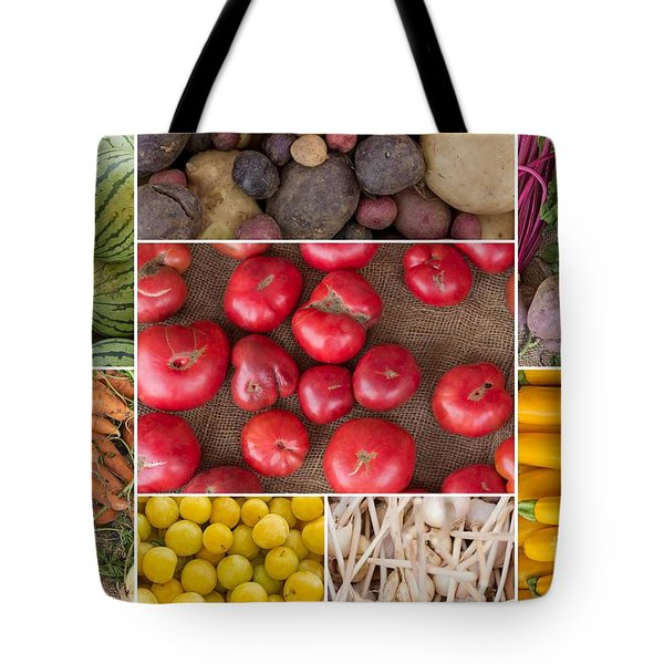 Fruit And Vegetable Collage Tote Bag