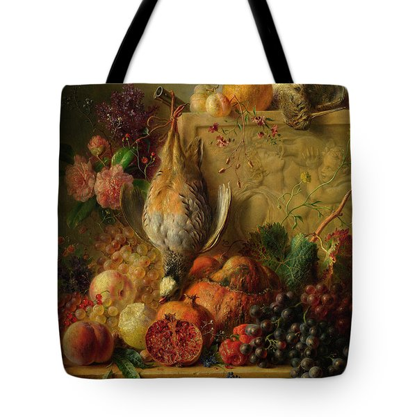 Fruit, Flowers And Game Tote Bag