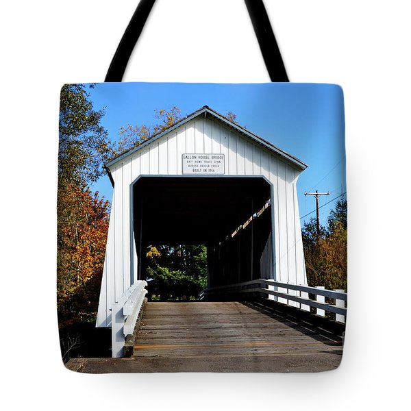 Gallon House Covered Bridge Tote Bag