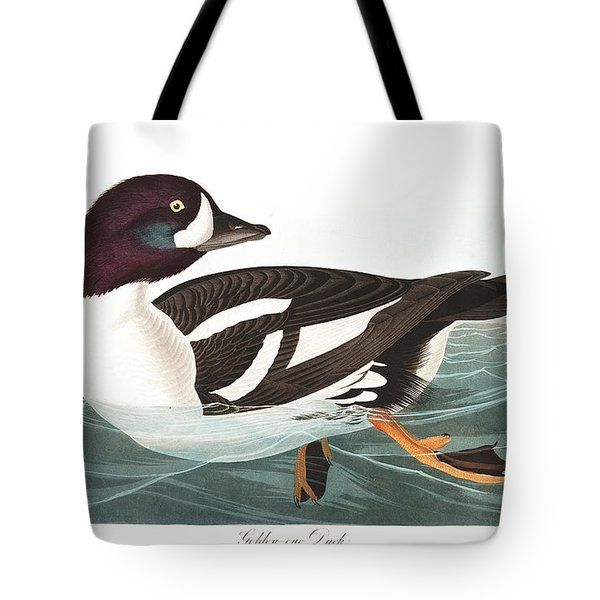 Golden-eye Duck Tote Bag