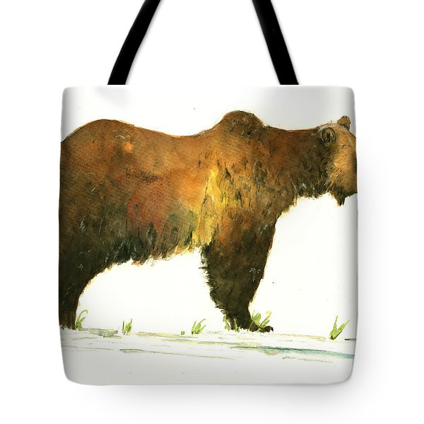 Grizzly Brown Bear Tote Bag
