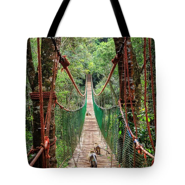 Tote Bag featuring the photograph Hanging Bridge by Alexey Stiop