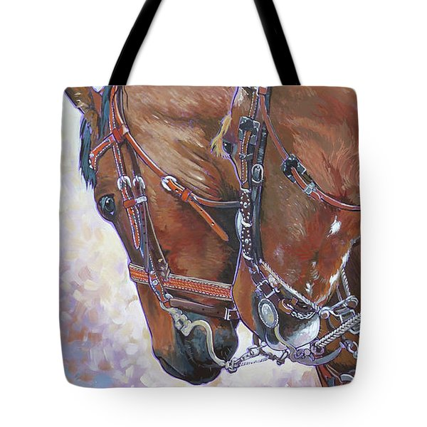 3 Heads Tote Bag by Nadi Spencer