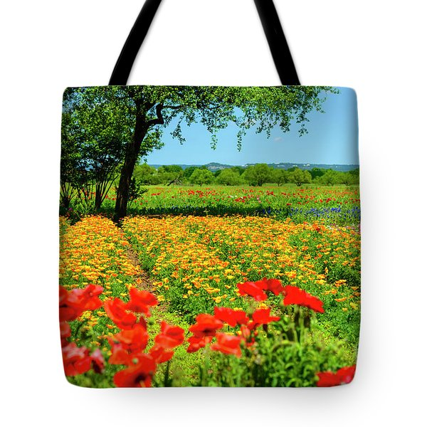 Hill Country In Bloom Tote Bag