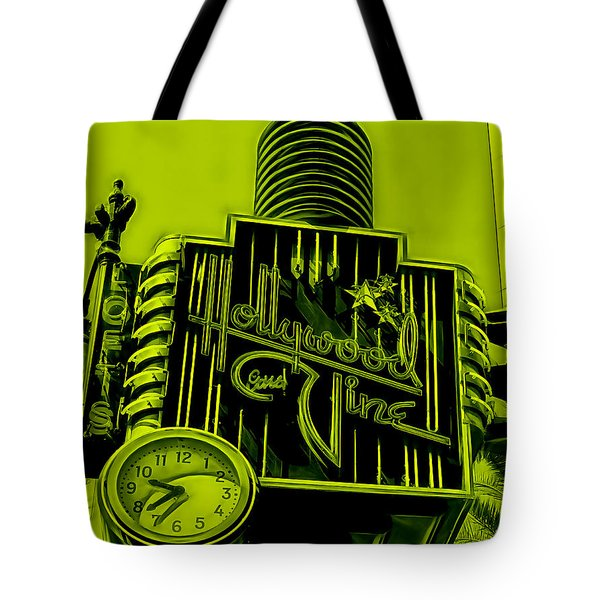 Hollywood And Vine Street Sign Collection Tote Bag