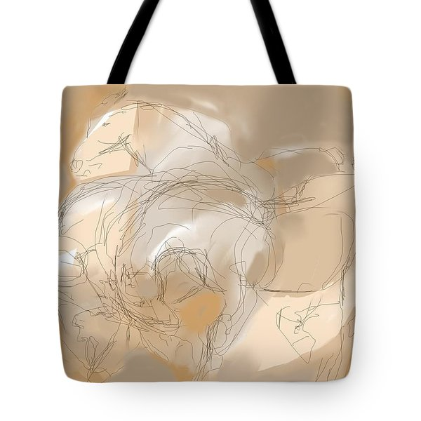 3 Horses Tote Bag by Mary Armstrong