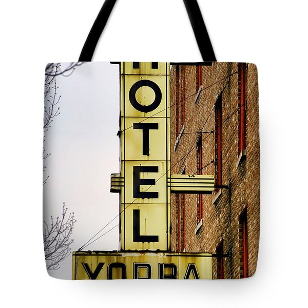 Hotel Yorba Tote Bag by Gordon Dean II