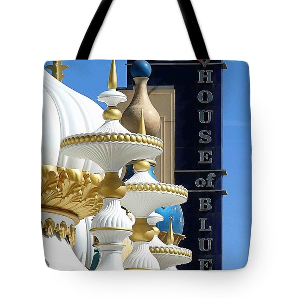 House Of Blues Tote Bag by Allen Beilschmidt
