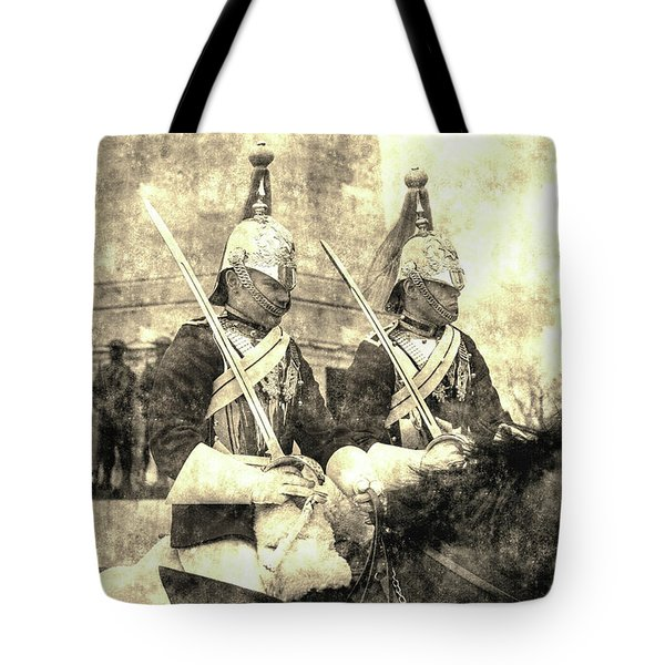 Household Cavalry Changing Of The Guard Vintage Tote Bag