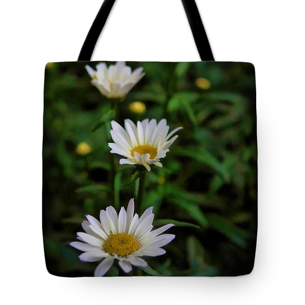 3 In A Row Tote Bag by Cherie Duran