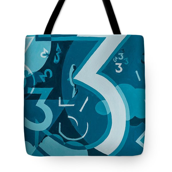 3 In Blue Tote Bag