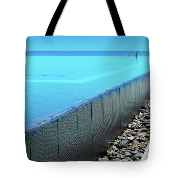 Tote Bag featuring the photograph Infinity Pool by Atiketta Sangasaeng