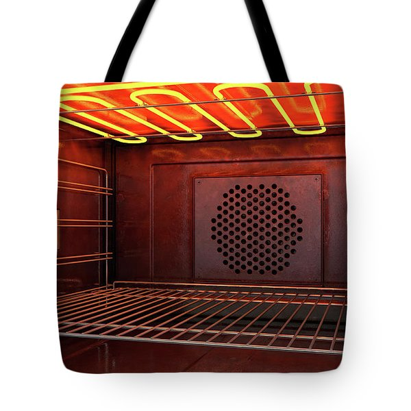 Inside The Oven Front Tote Bag