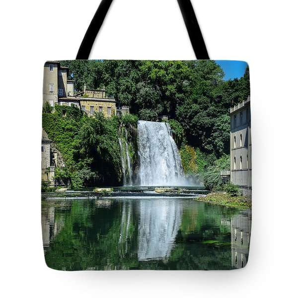 Tote Bag featuring the photograph Isola Del Liri Falls by Dany Lison