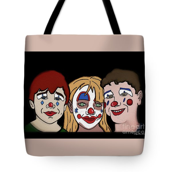 3 Jesters Tote Bag by Megan Dirsa-DuBois