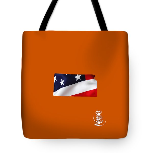 Kansas State Map Collection Tote Bag by Marvin Blaine