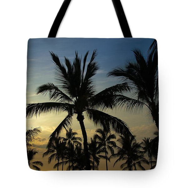 Tote Bag featuring the photograph Kona Sunset by Kelly Wade