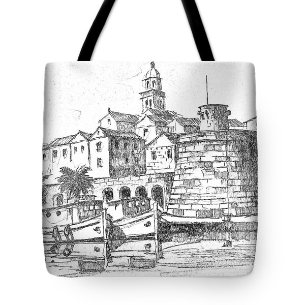 Tote Bag featuring the photograph Korcula Croatia by Joseph Hendrix