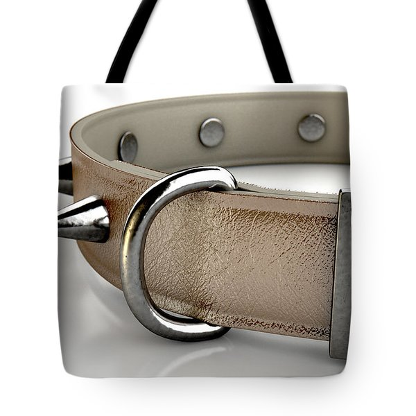 Leather Studded Collar Tote Bag