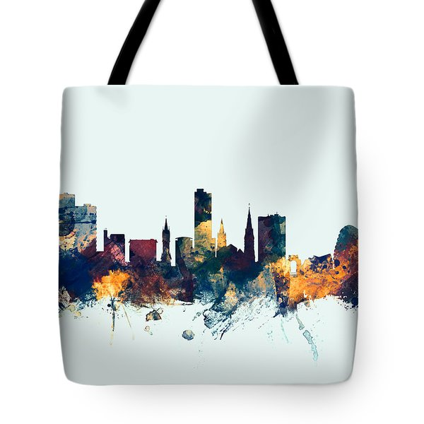 Leicester England Skyline Tote Bag