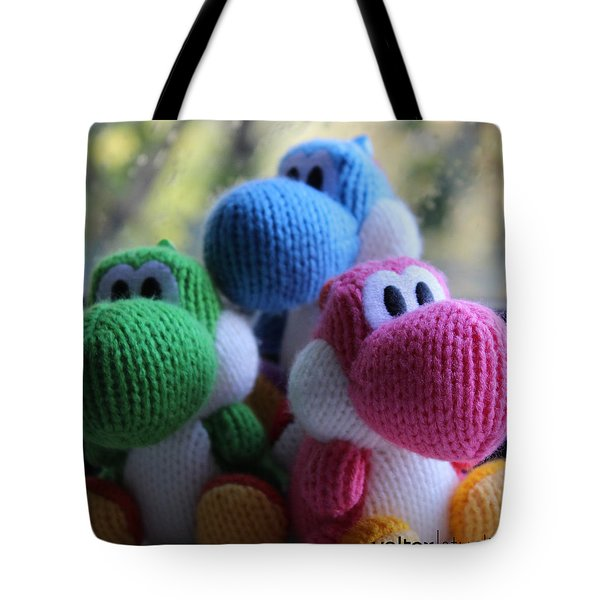 3 Little Yoshis Tote Bag