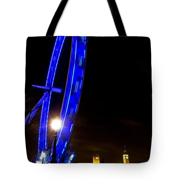 London Eye Night View Tote Bag
