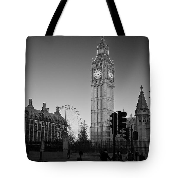 London  Skyline Big Ben Tote Bag
