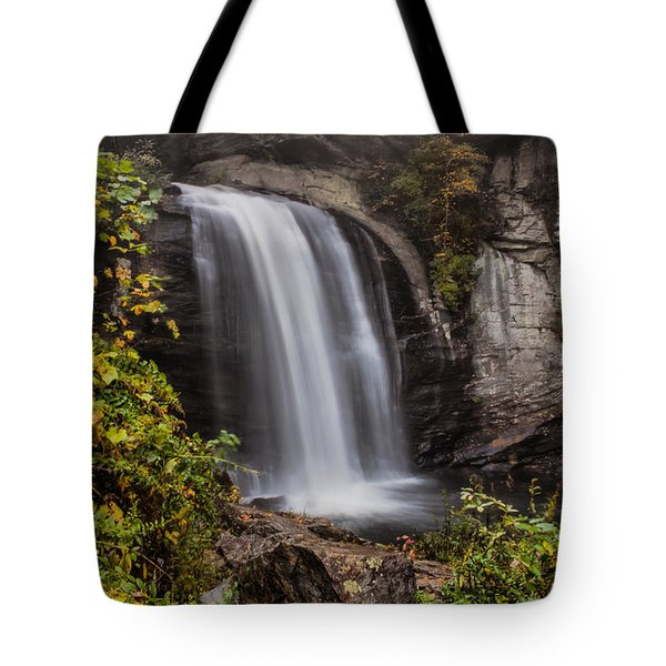 Tote Bag featuring the photograph Looking Glass Falls by Lynne Jenkins
