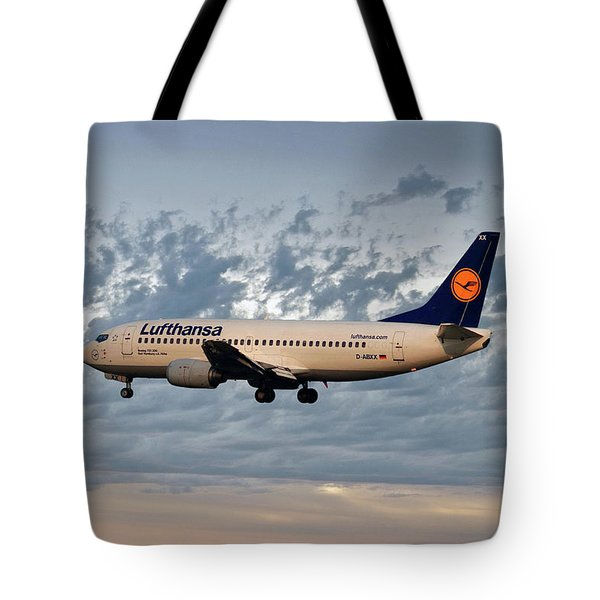 Lufthansa Boeing 737-300 Tote Bag