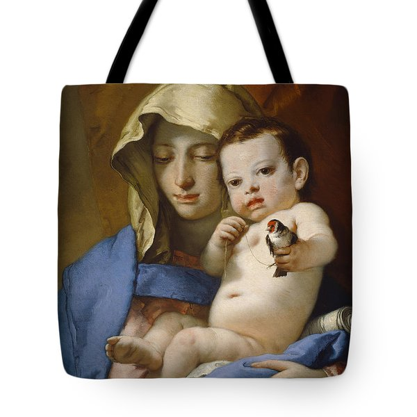 Madonna Of The Goldfinch Tote Bag