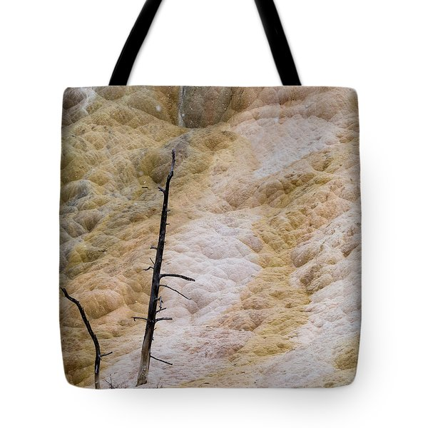 Mammoth Hot Spring Terraces Tote Bag