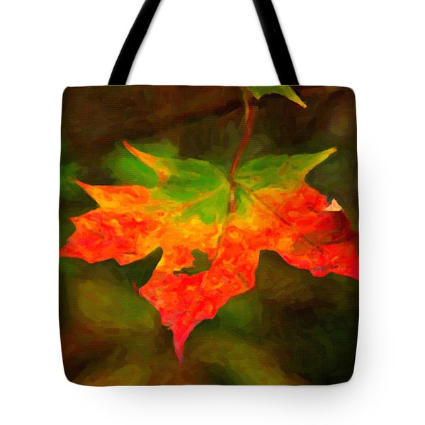 Maple Leaf Tote Bag by Andre Faubert
