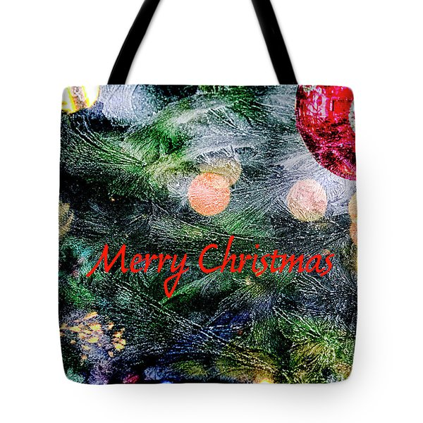 Merry Christmas Background Tote Bag by Patricia Hofmeester