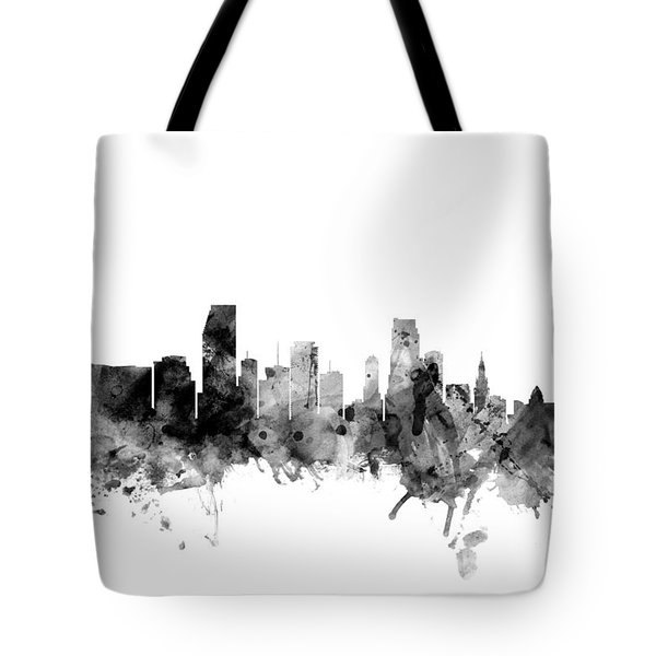 Miami Florida Skyline Tote Bag