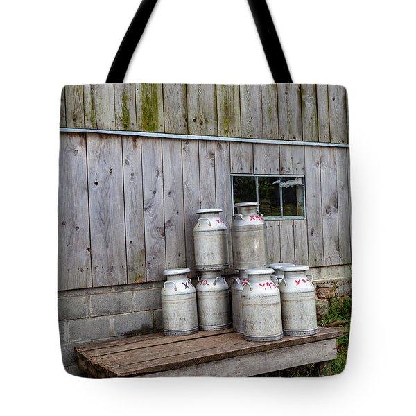 Milk Cans Tote Bag