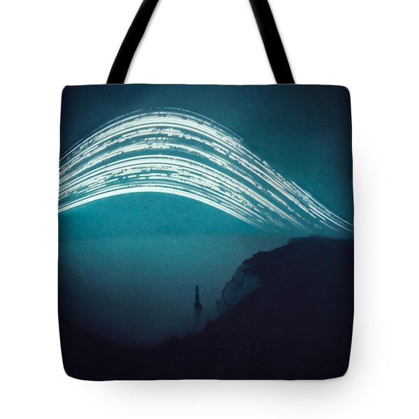 3 Month Exposure At Beachy Head Lighthouse Tote Bag