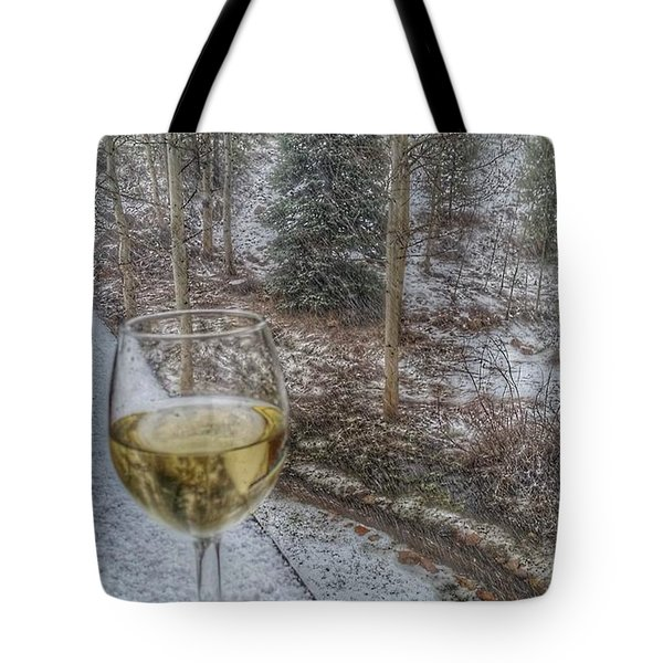 Mountain Living Tote Bag by Fiona Kennard
