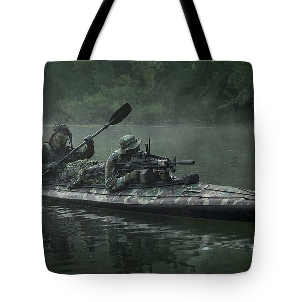 Navy Seals Navigate The Waters Tote Bag by Tom Weber