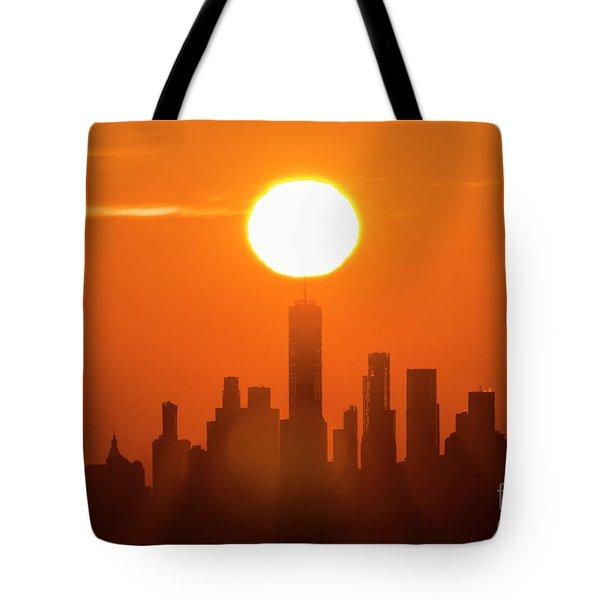 New York City Sunrise Tote Bag