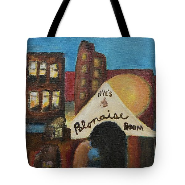 Tote Bag featuring the painting Nye's Polonaise Room by Susan Stone