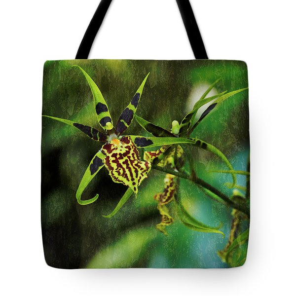 Tote Bag featuring the photograph Orchid by Richard Goldman