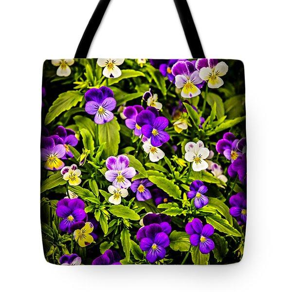 Pansies Tote Bag